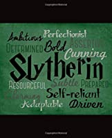 Journal: Slytherin Houses at Hogwarts School of Witchcraft and Wizardry Glossy Cover Writing Workbook for Teens & Children, Man, Woman Writing Teacher Journal, One Subject 110 Pages