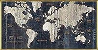 ポスター アーティスト不明 Old World Map Blue 額装品 アルミ製ベーシックフレーム(ゴールド)