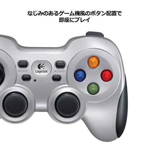 『Logicool G ゲームパッド ワイヤレス F710r シルバー PC ゲームコントローラー FF14推奨 Xinput F710 国内正規品 2年間メーカー保証』の4枚目の画像