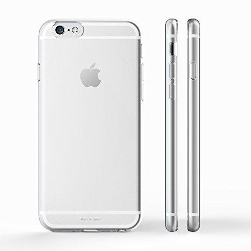 KINTA 日本製 iPhone6 ケース 【9/18発送】4.7 インチ (2014年新モデル)  クリアケース ソフトケース TPU  ハードケース のように硬く割れないエラストマー製 ストラップ ホール