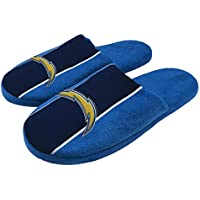 NFL Mens Big Logo Stripe Slippers