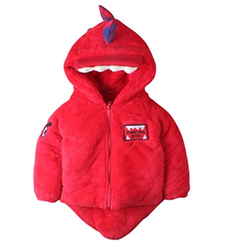 【Topics Garden】子供服 パーカー コート ジッパー ラウンドネック 厚手 防寒性 冬用(エコバッグ付き)