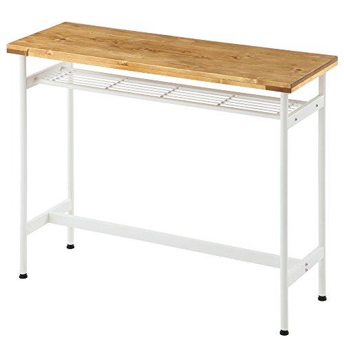 カウンターテーブル テーブル ハイタイプ ヴィンテージ風 バーテーブル ハイテーブル デスク ナチュラル
