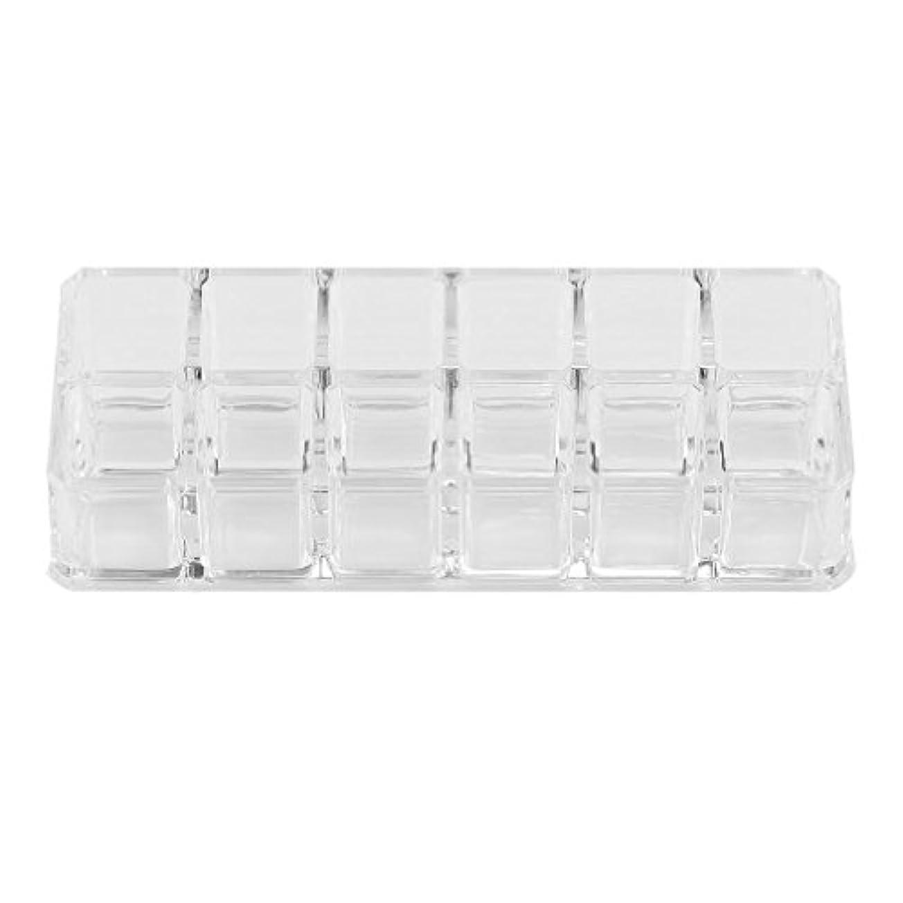 中級浅い基本的なケースメイク化粧品の口紅の主催ホルダー省スペース型スタンド1PCS 12台形透明アクリルメイクアップ?ディスプレイ?リップスティック