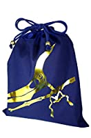 パルフィーユ/ハンドメイド 体操服袋 巾着大 (恐竜 化石 箔プリント) ネイビー ゴールド