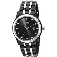 Citizen Men's 'Diamond' Quartz Stainless Steel Casual Watch, Color:Two Tone (Model: BM7348-53E)
