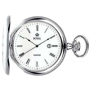 [ロイヤルロンドン]ROYAL LONDON 懐中時計 ポケットウォッチ ハンターケース クォーツ デイト 90001-01 【正規輸入品】