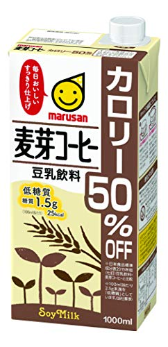 マルサン 豆乳飲料麦芽コーヒー カロリー50%オフ 1L×6本