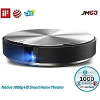 プロジェクター、JmGO G7/N7L ホームシアター 3D DLP プロジェクターネイティブ 1080p HD スマートテレビポータブルビデオムービープロジェクター HiFi ステレオ Bluetooth スピーカー内蔵