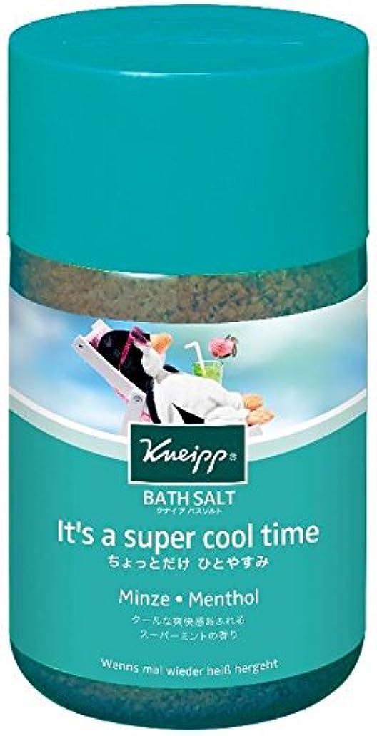 区画未払いミニクナイプ バスソルト スーパーミントの香り 850g