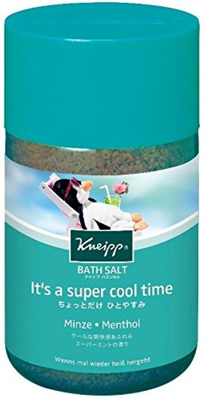 聞きます指紋人クナイプ バスソルト スーパーミントの香り 850g
