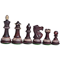 Burnt Chess Set King 3.5 inch 32 chess Pieces