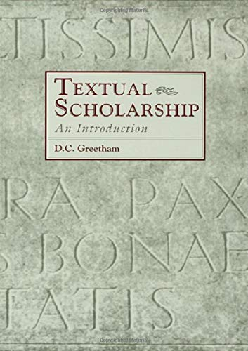 Download Textual Scholarship: An Introduction (Garland Reference Library of the Humanities) 0815317913
