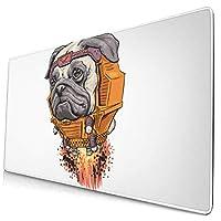 LOTIN-J マウスパッド犬 デスクマット 大型おしゃれ 滑り止め ゲーム用 40*75cm