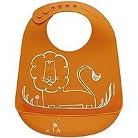 modern-twist Baby Silicone Bucket Bib, Dandy Lion, Orange by modern-twist [並行輸入品]