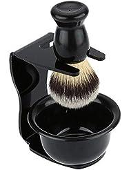 あごひげケア 美容ツール 泡立ちが違う アナグマ 毛 シェービング ブラシ スタンド付き 理容 洗顔 髭剃り マッサージ 効果 キャンプ 旅行 家庭