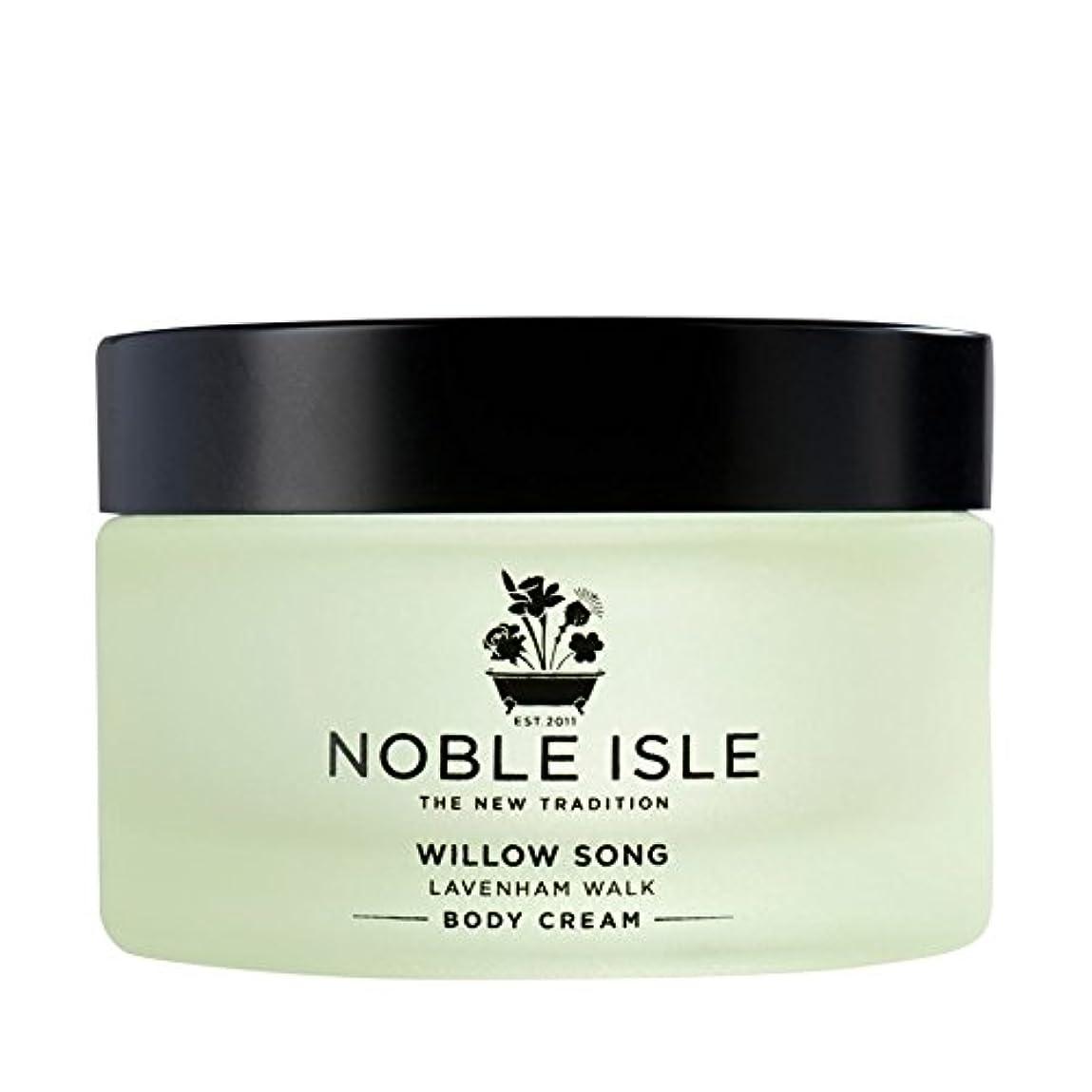 牛肉アレルギー性放射する高貴な島柳の歌ラヴァンハム徒歩ボディクリーム170ミリリットル x4 - Noble Isle Willow Song Lavenham Walk Body Cream 170ml (Pack of 4) [並行輸入品]
