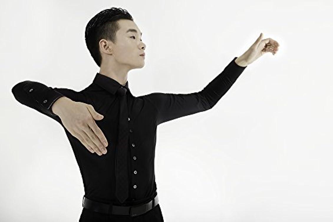 イソギンチャク盗難つぶやき【Ads JAPAN】ダンス用ワイシャツ(黒)