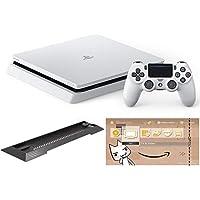 PlayStation 4 グレイシャー・ホワイト 500GB (CUH-2200AB02)【Amazon.co.jp限定】アンサー PS4用縦置きスタンド 付 & オリジナルカスタムテーマ 配信
