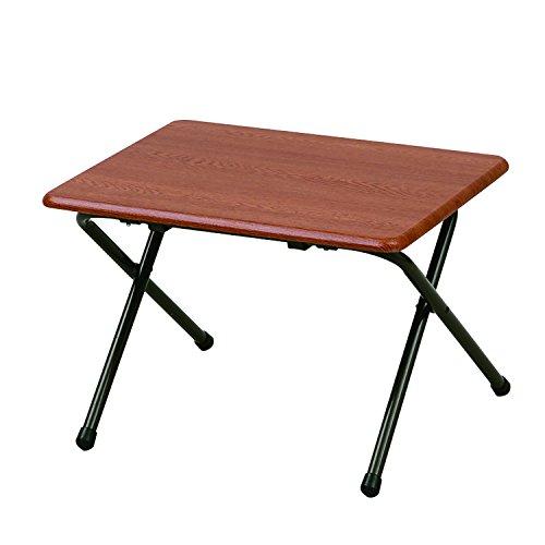 山善(YAMAZEN) テーブル ミニ 折りたたみ式 サイドテーブル 幅50×奥行44×高さ35cm ロータイプ ダークブラウン/ブラウン YST-5040L(DBR/BR)