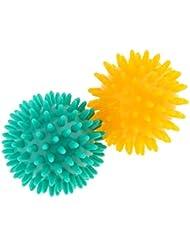 Baosity マッサージボール スパイシー マッサージ ボディトリガー リラックス PVC 2個セット 3タイプ選べ - イエローグリーン