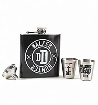 "■ウォーキングデッド■The Walking Dead [TV] ■""Walker Hunter DD"" ダリル ディクソン フラスク ギフトセット ■""Walker Hunter DD"" Hip Flask Gift Set ●AMCスタジオ正規品 ●Officially-licensed AMC's The Walking Dead merchandise"