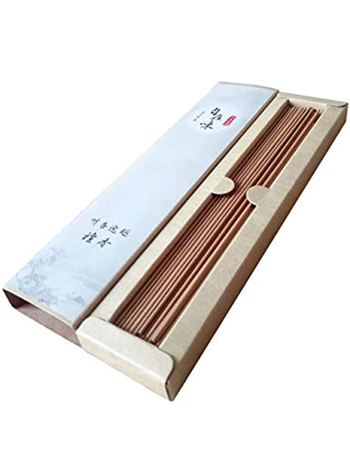 楽観崖中央お線香 天然素材 煙の少ない 白檀 お徳用 (长寸21cm 85本入)