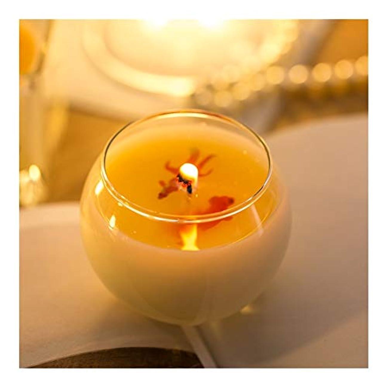 シャッターバンガロー名誉Guomao 小箱入りアロマゴールドフィッシュキャンドルロマンチックホリデーギフトピュアカラーゴールドフィッシュキャンドル (色 : Green tea)