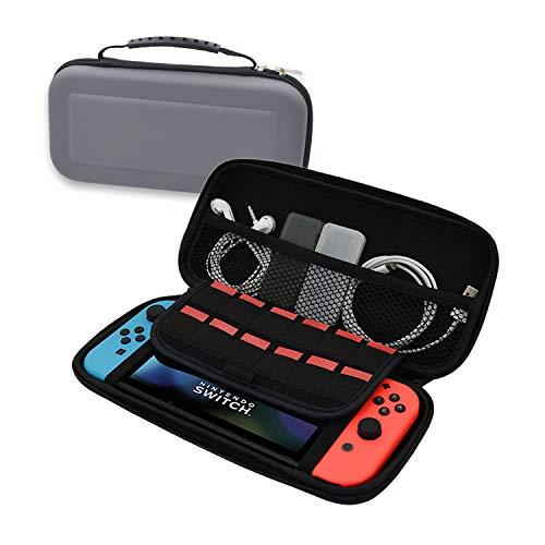 2020 任天堂スイッチ ケース Nintendo Switch ケース, ニンテンドースイッチ ラベルキャリーケース,?収納バッグ ゲーム メッシュ袋収納EVA、、超軽い、耐衝撃、防水設計、内部に耐震気泡及び超極細繊維の生地で任天堂スイッチ専用