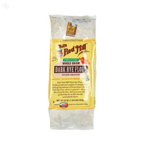ボブズレッドミル オーガニック ダークライ フラワー (有機全粒ライ麦粉)623 g