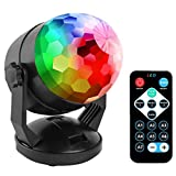 Remote Control Portable Sound Activated Party Lights for Outdoor and Indoor, Battery Powered or USB Plug in, Dj Lighting, RBG Disco Ball, Strobe Lamp Stage Par Light for Car Room Dance Parties