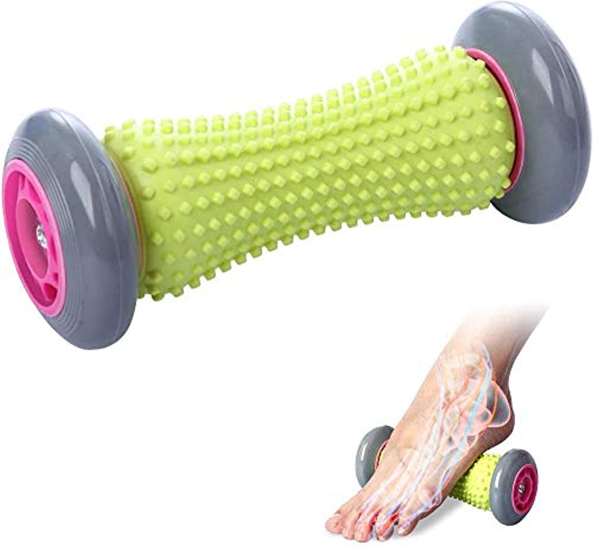 リスク平和的簡単な痛みと深部組織のトリガーポイントのための足底筋膜炎フットローラーマッサージ,Grey