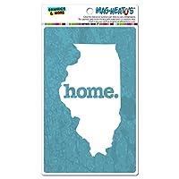イリノイ州IL ホーム州 MAG-NEATO'S(TM) ビニールマグネット - 質感ロビンエッグ青