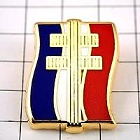 限定 レア ピンバッジ ドゴール将軍ロレーヌの十字フランス国旗トリコロール3色 ピンズ フランス