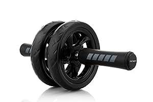 KINSON アブホイール エクササイズウィル スリムトレーナー 超静音 腹筋ローラー エクササイズローラー マット付き