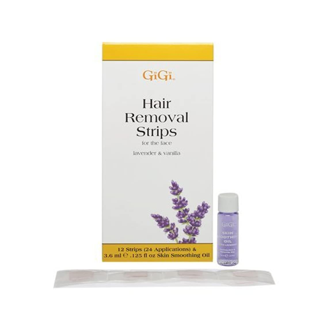 順応性士気愛情Gigi Removal Strips for Face Lavender Vanilla 1 Ounce [並行輸入品]