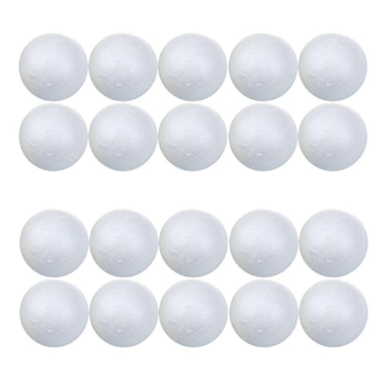 SONONIA スチロール 丸球ボール 白ボール DIYベース 発泡 工作素材 20個組 7cm 工芸 民芸