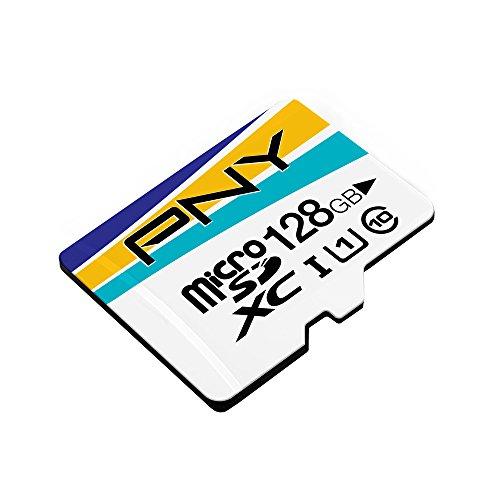 PNY カラー microSDXCカード 128GB class10 UHS-1対応 アダプタ付 永久保証 PFCTFUXC128IU1