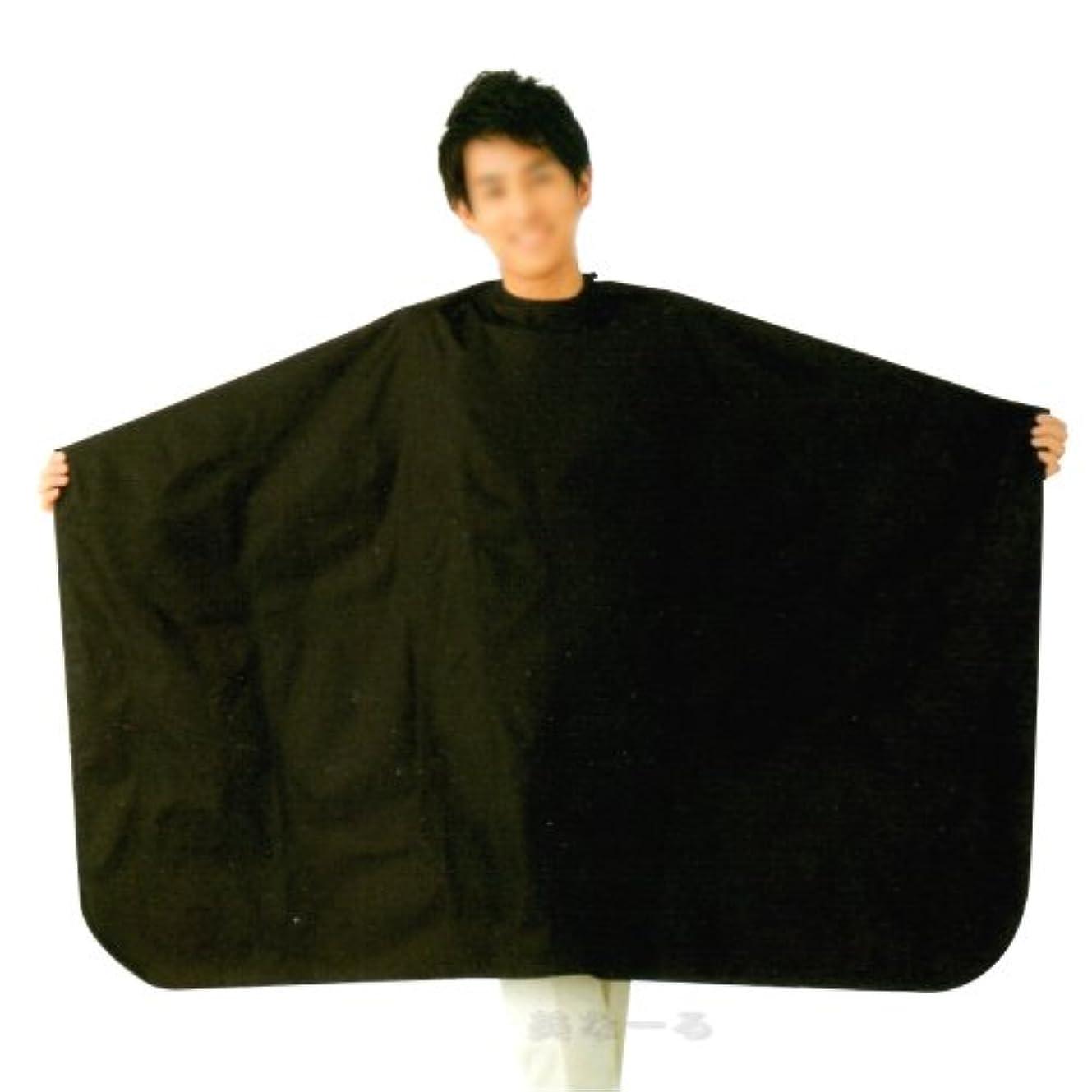 味振る舞う供給ヘアダイクロス ヘアカラー用ケープ 袖なし 業務用 エルコ