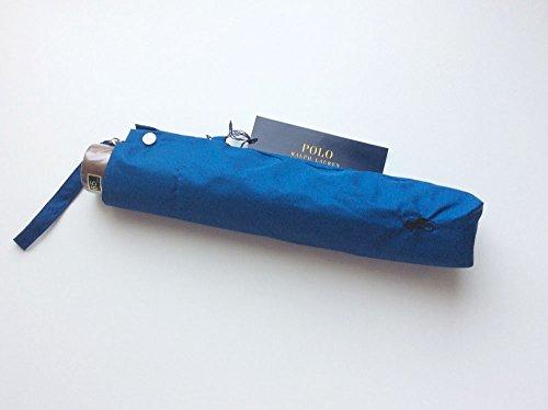 ポロ ラルフローレン メンズ 折りたたみ傘 ブルー 65cm テフロン加工 軽量 大きい