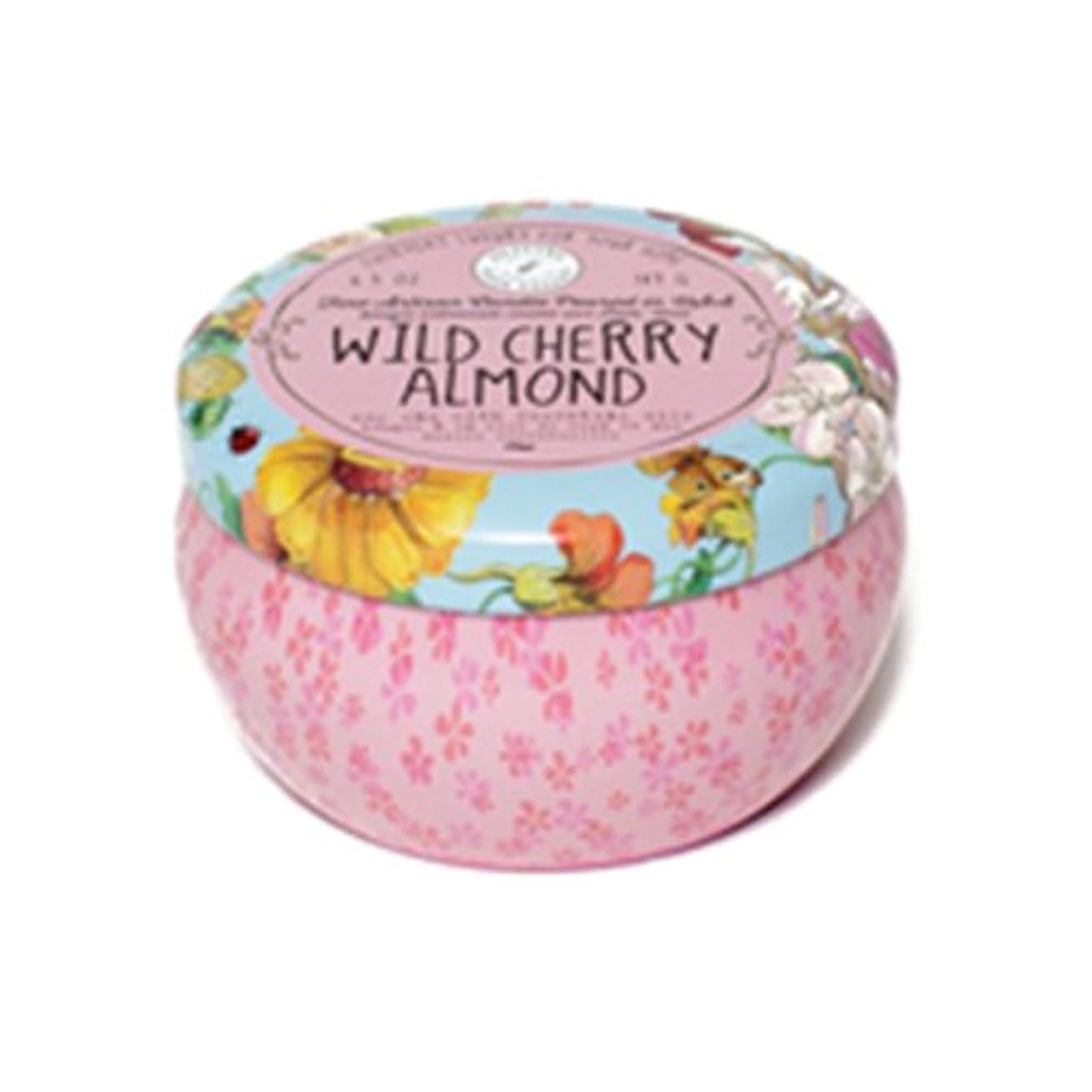 文芸単調な高原Napa Valley Apothecary wild cherry almond ワイルドチェリーアーモンド 缶キャンドル tin candle ナパバレーアポセカリー Olivina オリビーナ
