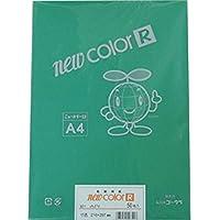 リンテック 色画用紙 ゴークラニューカラーR A4 みどり50枚NO321