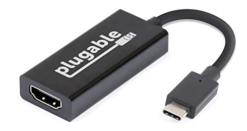 Plugable USB 3.1 Type C(USB-C)- HDMI 2.0 変換アダプタ、MacBook Pro 2016/2017, Retina MacBook 12