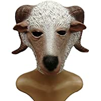 マスク マスクハロウィーンボールパーティーマスクヒツジマスクヒツジヘッド動物マスク