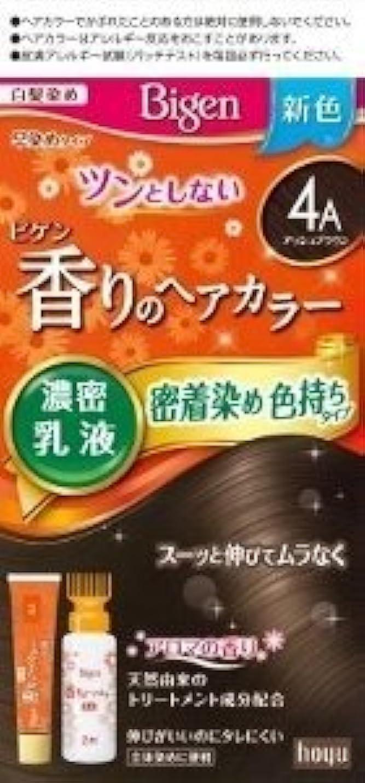 プレビスサイトピアニストぐったりホーユー ビゲン 香りのヘアカラー 乳液 4A (アッシュブラウン)×6個