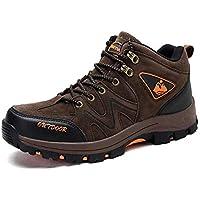 登山靴メンズ 皮革 ハイキングシューズ 防水 耐滑 トレッキングシューズ 多機能 アウトドア キャンプ シューズ 3色展開