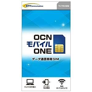 OCN モバイル ONE データ通信専用SIMカード 月額972円(税込)~(マイクロSIM)