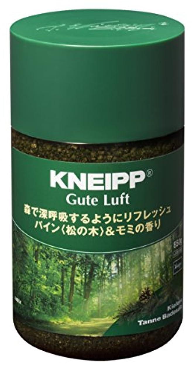 ニュースエゴイズム邪魔するクナイプ バスソルト グーテルフト パイン<松の木>&モミの香り 850g