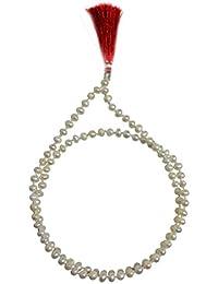 認定Fresh Water Pearl beads-108 + 1ビーズロザリオ/Japa Mala 5 mm : Blessed & Energised、hindu-tibetan-buddhist-christian...