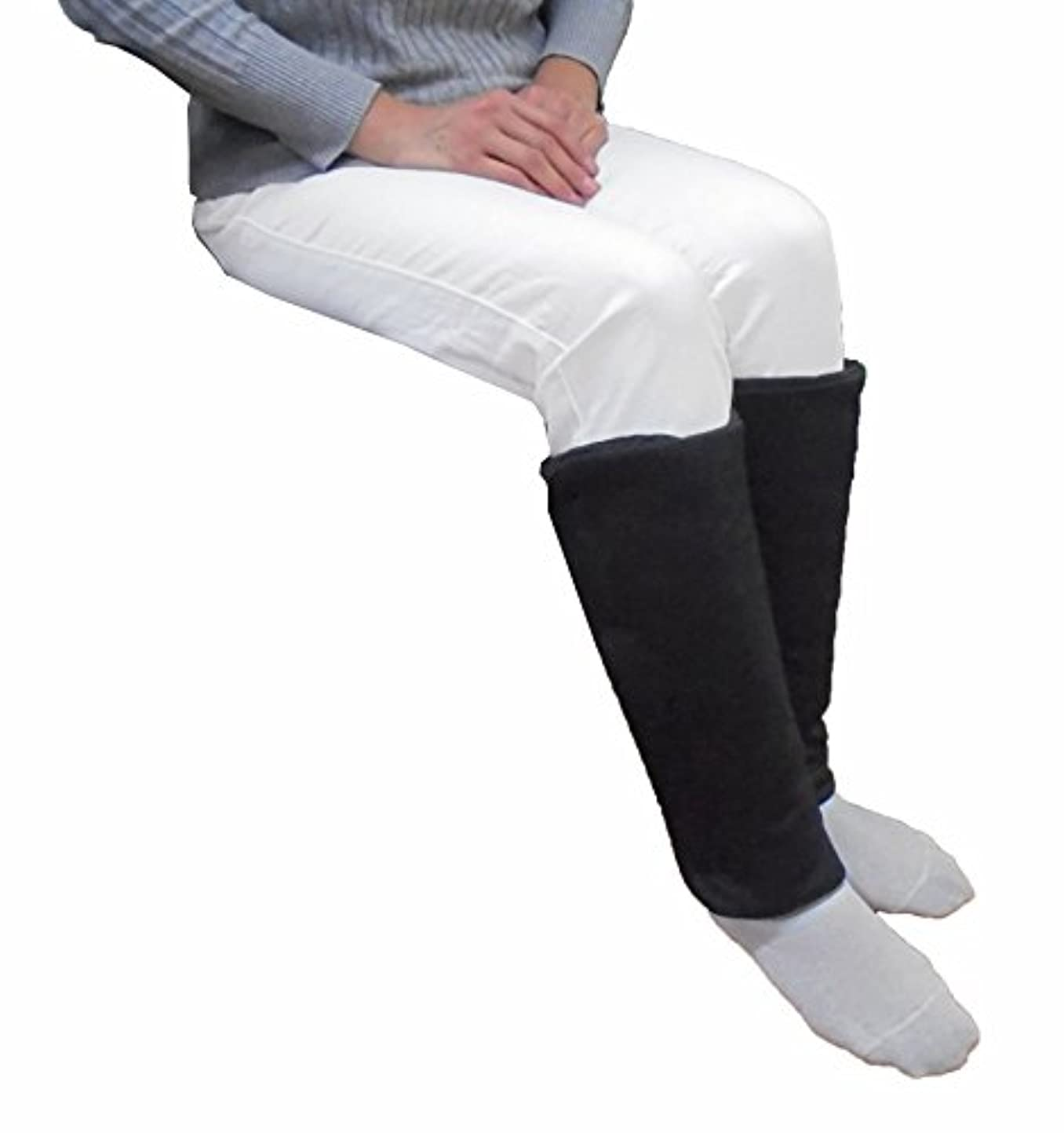 小切手痛みテンション【Tetote】遠赤レッグウォーマーFit 左右セット ブラック [遠赤外線+軽量保温素材でほっこりぬくぬく&着脱?調整らくらく]